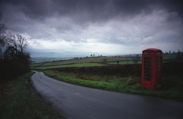 Phone box on Clyro Hill 8: December 16th, 2005