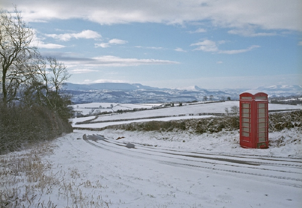 Phone box on Clyro Hill 17: March 3rd, 2006