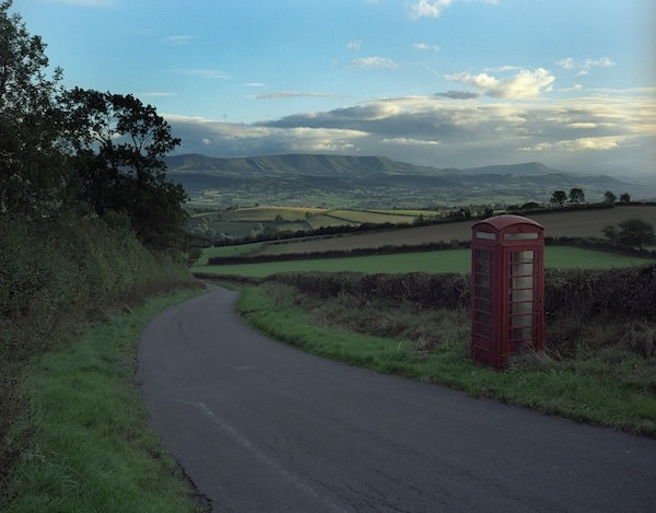 phonebox on clyro hill nov 2006